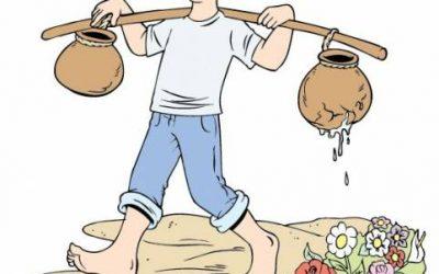 Cuento: La vasija agrietada